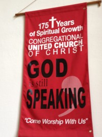 God is still speaking banner